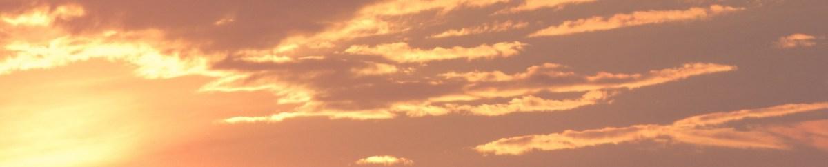 Art under a cloudy sky