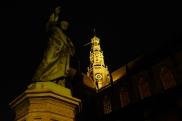 Haarlem's Grote Kerk by night