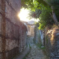 Cobbled street in Agios Lavrentios